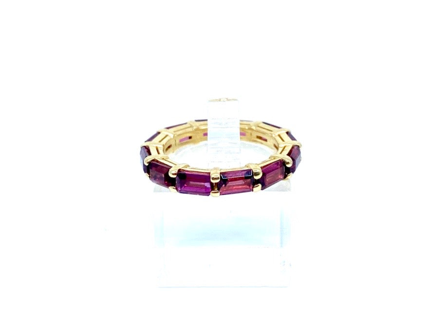 14K Gold Tourmaline Baguette Eternity Band