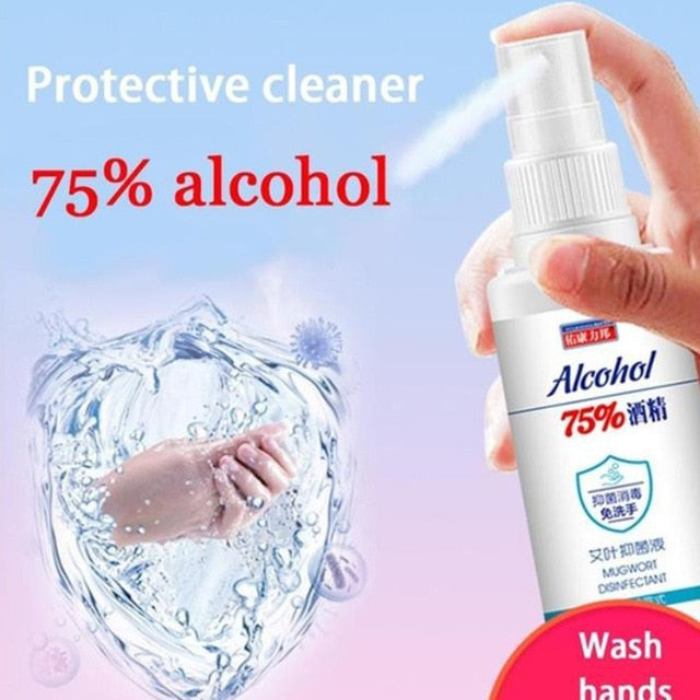 60ml Hand Sanitizer Gel- Kills Germs Bacteria Quick-drying Antibacterial Gel Disinfectant Hand Washing Free Antibacterial Spray