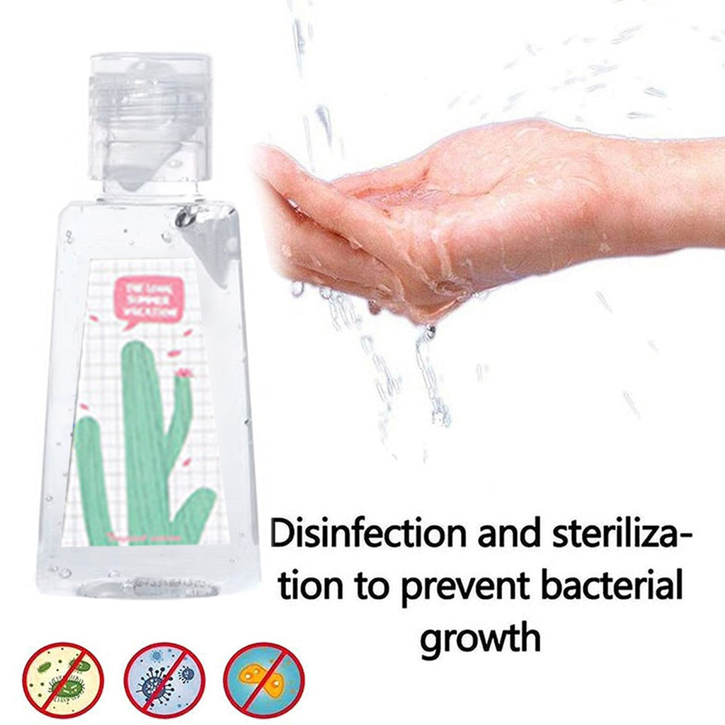 30ML Portable Household Cleaning Gentle Hydration Hand Sanitizer Soothing Gel Portable Anti-Bacteria Moisturizing Gel Cleaner