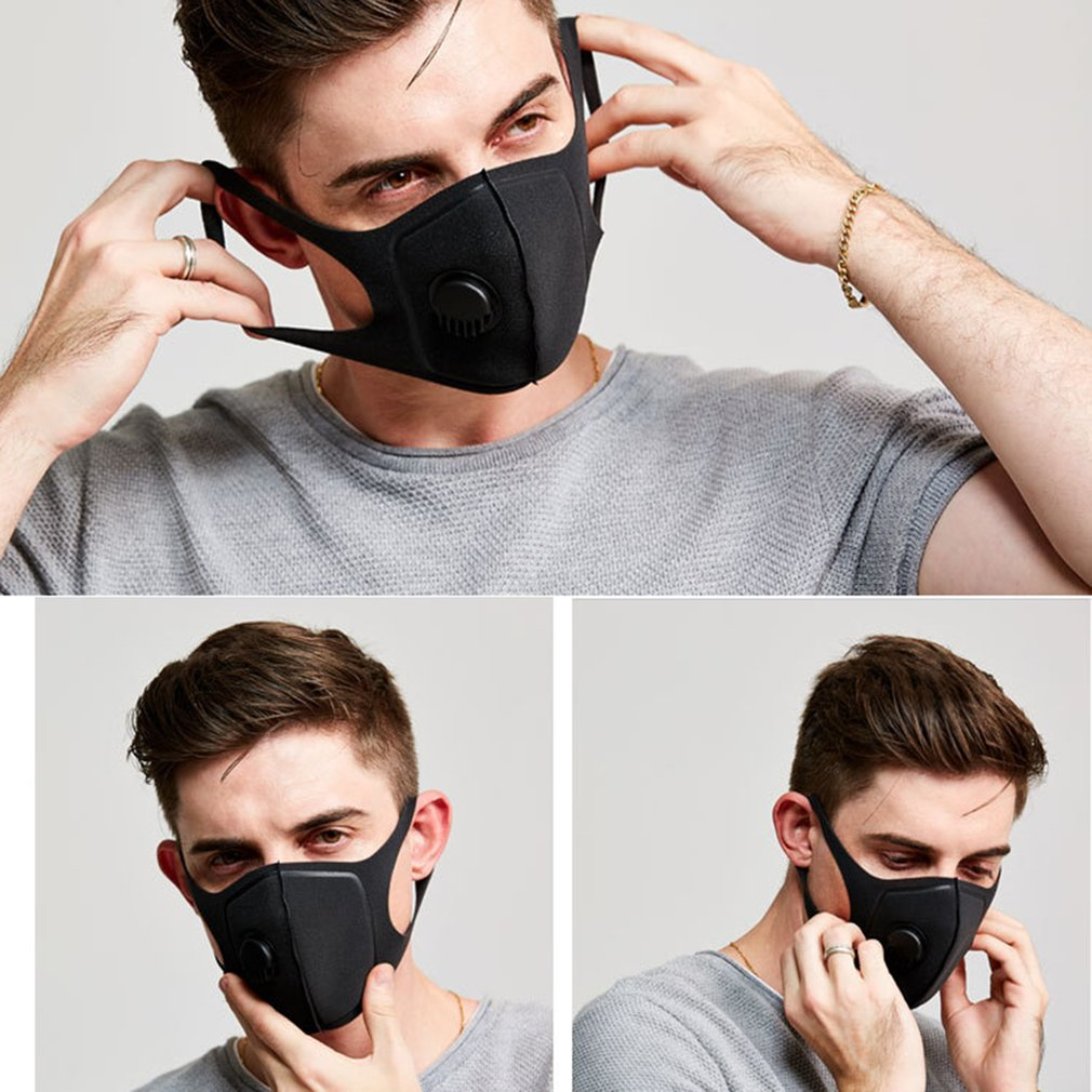 Waterproof Polyester Fiber Protective Mask With Breathing Valve Built-In Exhalation Valves Filtered Air Mask 1 Pcs