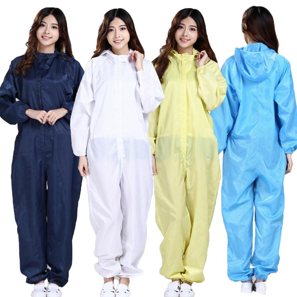 Unisex Sanitary Protection Jumpsuit Hazmat Suit Zip Isolation Protective Coveralls Disposable Factory Hospital Safety Clothing