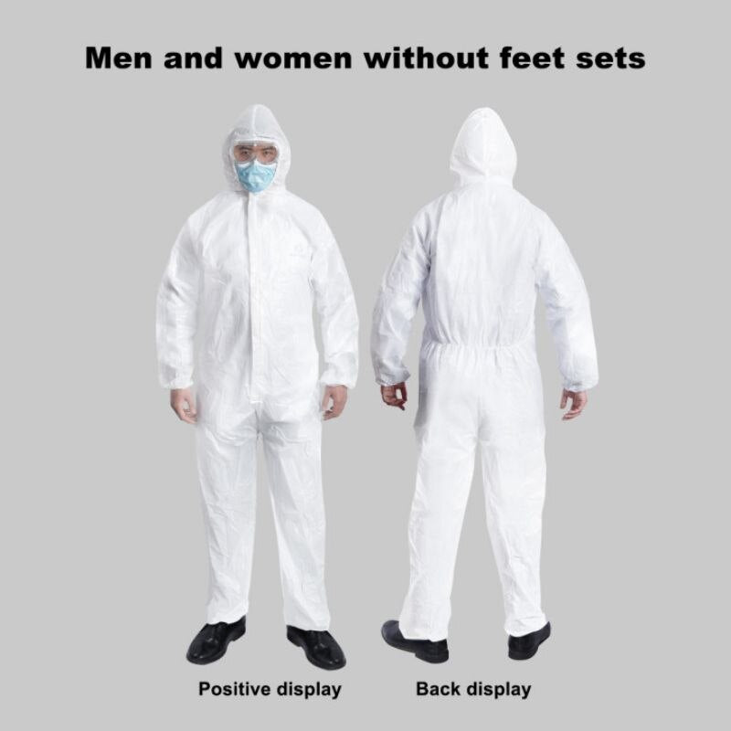 High Antibacterial Disposable Isolation Suit Prevent Invasion of Staff Protective Clothing Dust-proof Coveralls Antistatic