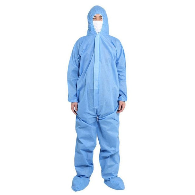 Disposable Full Body Protective Suit Antibacterial Plastic Closures Isolation Suit Protective Clothing Coveralls Waterproof