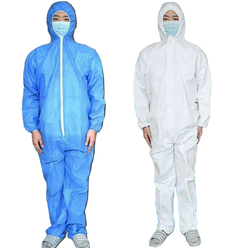 One Time Disposable  Anti-epidemic Antibacterial Plastic Closures Isolation Suit Protective Clothing Dust-proof Coverall