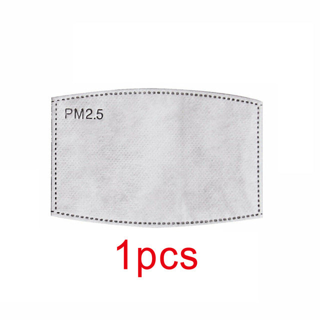 50PCS Breathable PM 2.5 Filter Paper Anti Haze Mouth Mask Outdoor Anti Dust Mouth Cover Outdoor Work Masks
