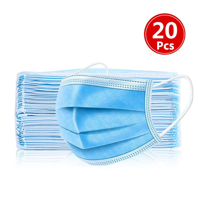 10/20/30/40/50/100pcs mouth mask Men Women Cotton Anti Dust Mask Mouth Mask Windproof Mouth-muffle Bacteria Proof Flu Face Masks