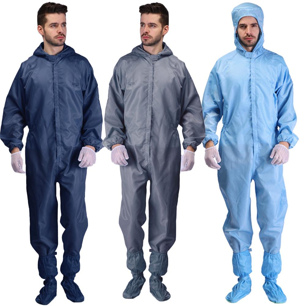 White Coverall Hazmat Suit Protection Protective Disposable Clothing Disposable Factory Hospital Safety Clothing