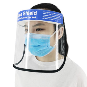 Safety Face Shield With Clear Flip-Up Visor Eye Face Protector Mask Protective Quarantine Droplets