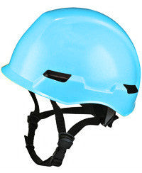 Massif brimless hard hat shown in light blue
