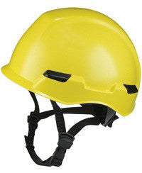 Massif brimless hard hat shown in yellow