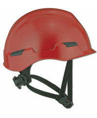 Massif brimless hard hat shown in red