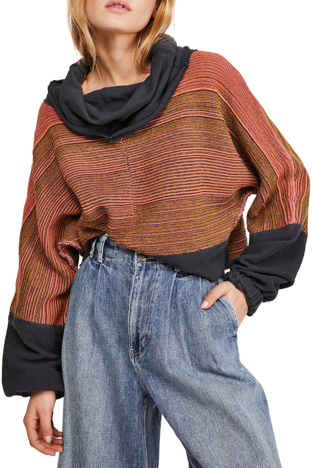 Free People CATCH A SMILE PULLOVER SWEATER