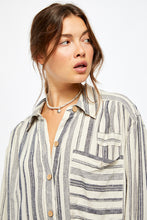 Load image into Gallery viewer, Free People Summer Breeze Striped Shirt