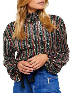 Free People MIDNIGHT CITY TOP