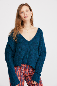 Free People MOONBEAM V NECK SWEATER
