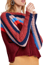 Load image into Gallery viewer, Free People RAINBOW STRIPED KNIT SWEATER