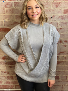 Mystree Cable Knit Sweater