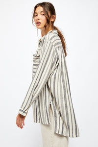 Free People Summer Breeze Striped Shirt