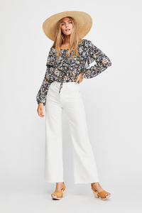 Free People HIGH RISE STRAIGHT FLARE
