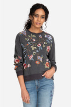 Load image into Gallery viewer, Johnny Was Renata Raglan Sweatshirt / NAVY