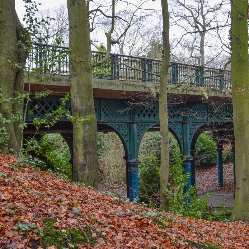 The Iron Bridge in Sefton Park