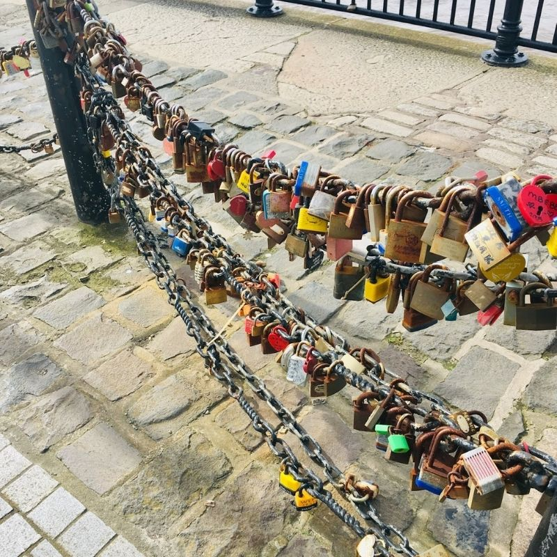 Love lock at the Albert Dock