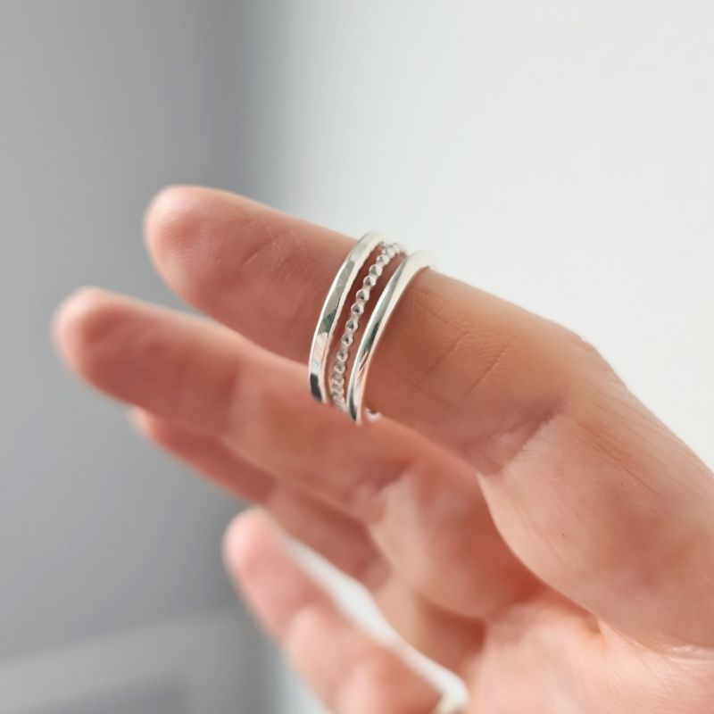 Elemental Stacking Ring Set