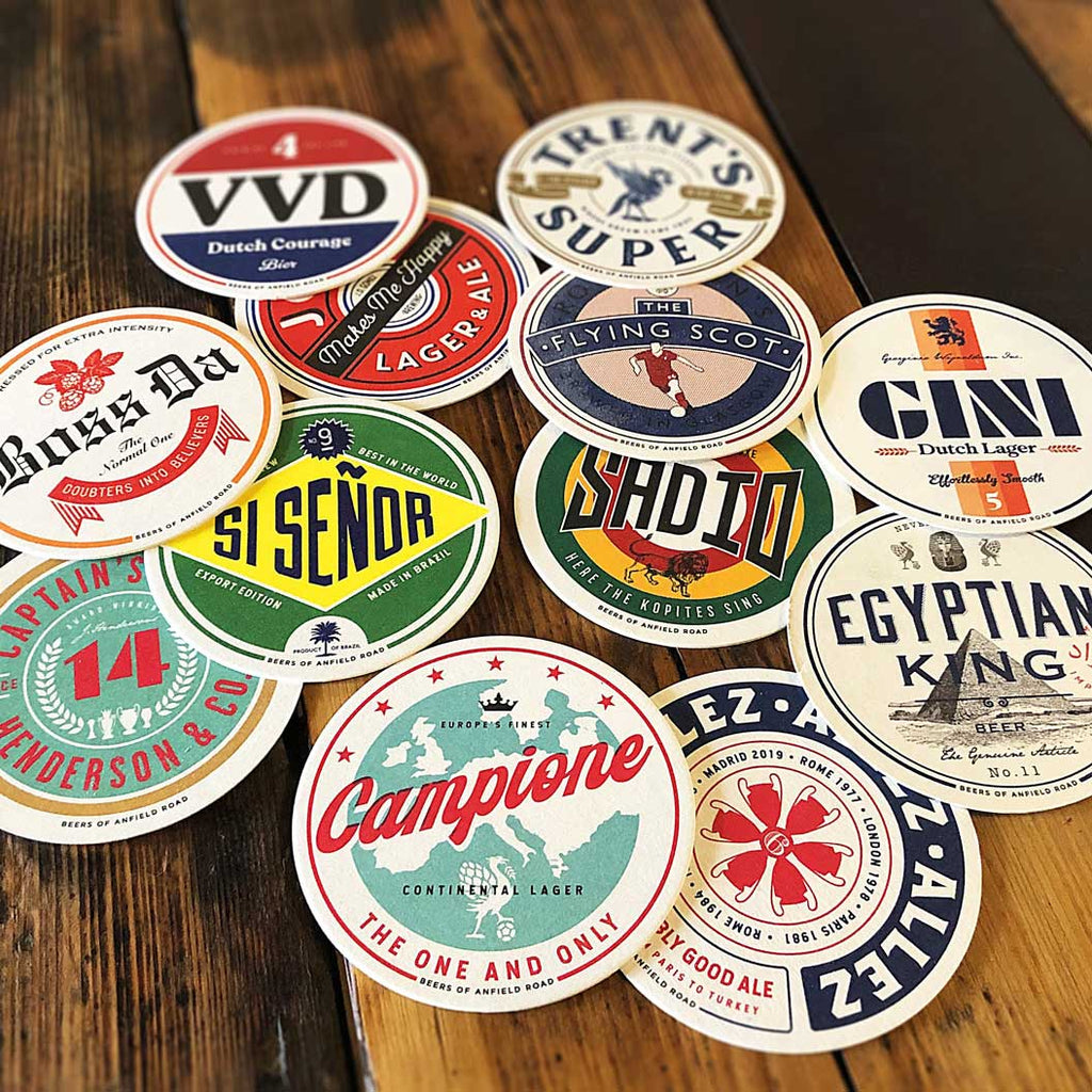 Custom Liverpool Coasters - 12 pack