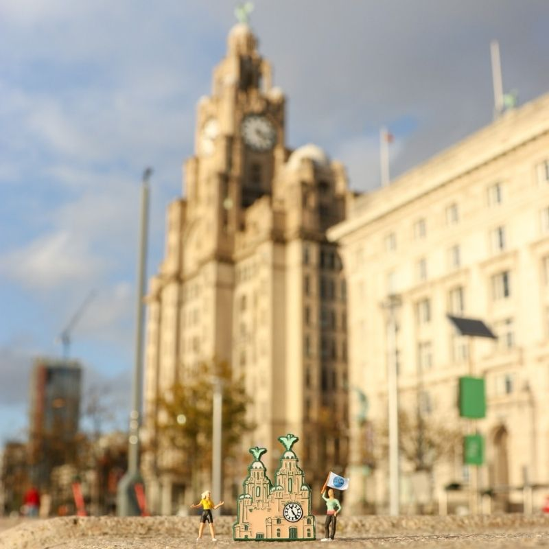 Liver building & Radio City Pins (Colour)