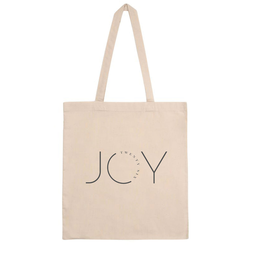 Recycled Lightweight Natural Tote Bag - Joy logo