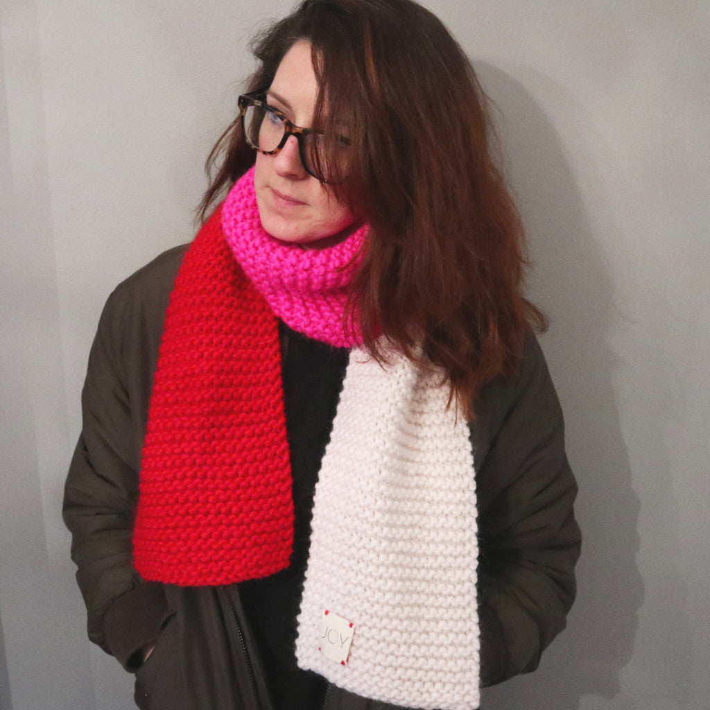 Hand Knitted Midi Scarf - Love