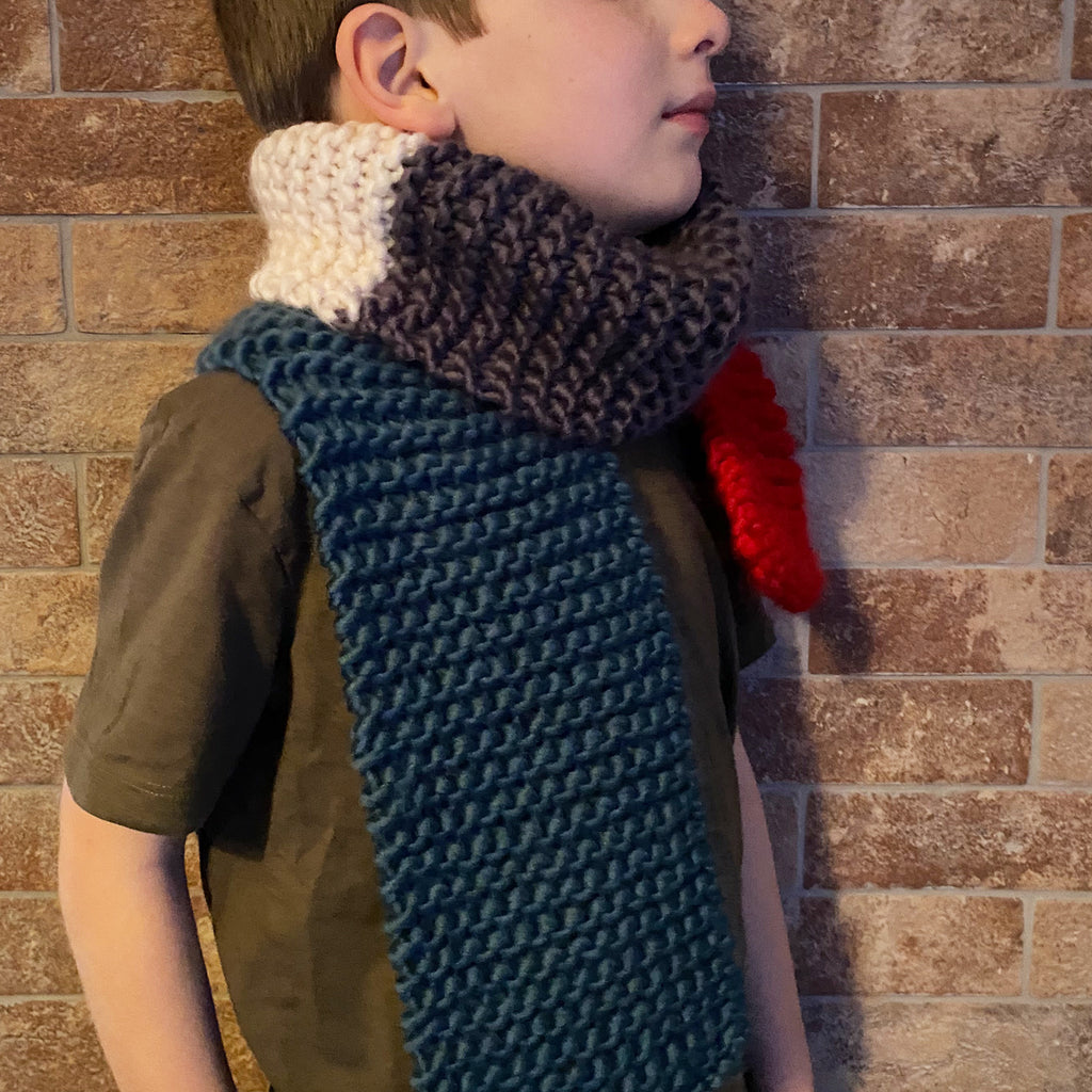 Hand Knitted Mini Scarf