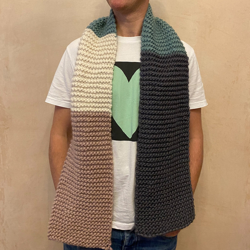 Hand Knitted Midi Scarf