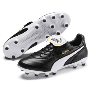 Puma King Top FG Soccer Cleats Blk/Wht Mens USA size 14