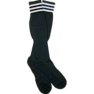 Official Sports Italian Ref Socks 3 White Stripes