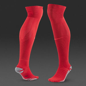Nike Grip Strike Cushioned Over The Calf Soccer Socks Red Mens 6-7.5 women's 7.5-9