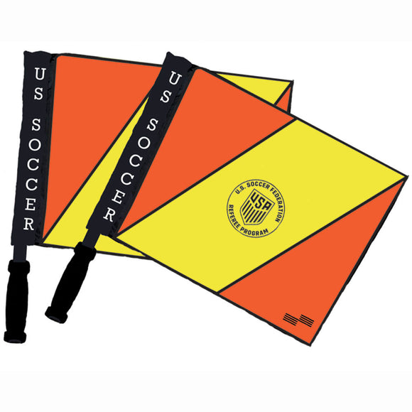 Official Sports USSF Swivel AR Soccer Referee Flag Set