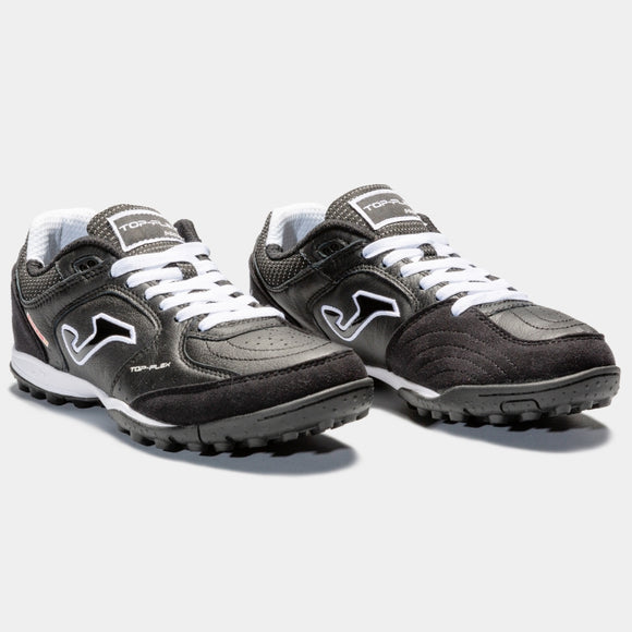 Joma Top Flex TF Mens Black/White Leather