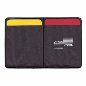 Official Sports Soccer Referee Data Wallet with Red and Yelow Cards