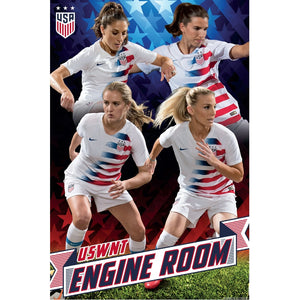 USA Womens National Team Engine Room Poster