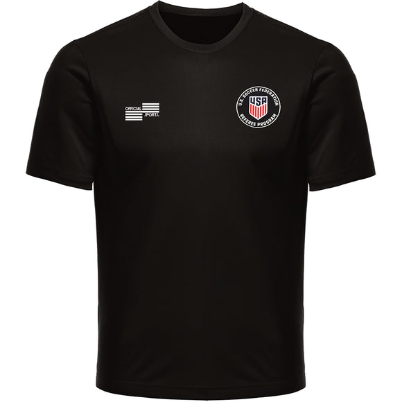 Official Sports USSF Wicking Short Sleeve T-Shirt Black 2244CL