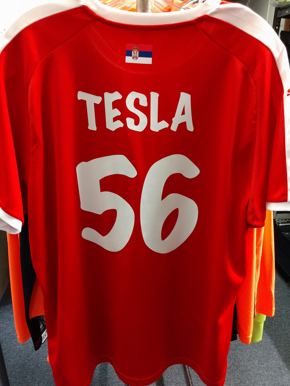 Puma Serbia Jersey Home Mens XL Customized 1 of 1 Tesla