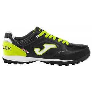 Joma Top Flex Turf Soccer Shoes Black Florescent Yellow