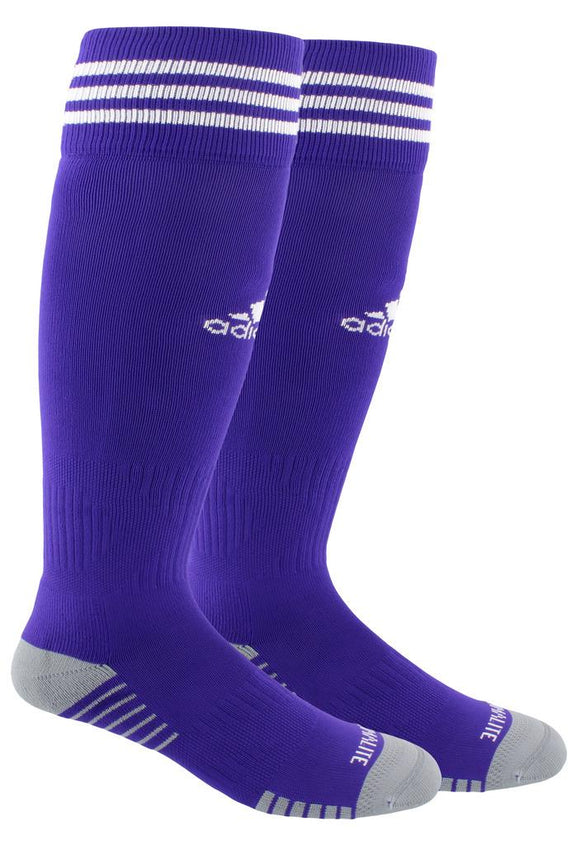 adidas Copa Zone Cushion IV OTC Soccer Socks Purple/White