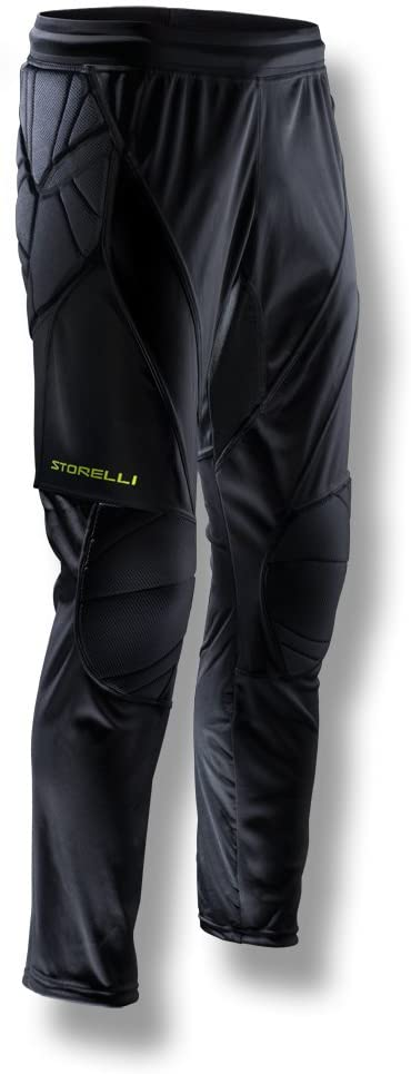 Storelli ExoShield Goalkeeper Pants | Full-Length Padded Soccer Pants | Premium Hip and Knee Protection