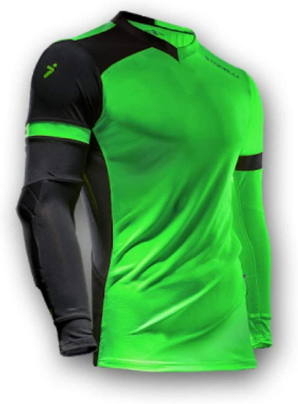 Storelli ExoShield Gladiator Goalkeeper GK Jersey Green/Black