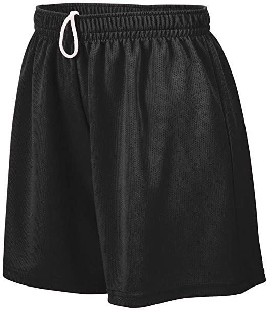 Augusta Wicking Mesh Youth Soccer Shorts Black