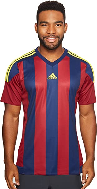 adidas Mens Soccer Striped Jersey