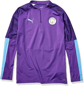 PUMA Men's Manchester City 1/4 Zip Top Purple