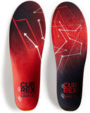 currex CLEATPRO Performance Insoles LOW PROFILE RED